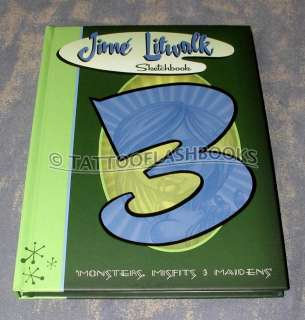 JIME LITWALK #3 Misfit SKULLS Tattoo Flash Machine Book