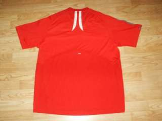 MENS ADIDAS RED CLIMA365 CLIMACOOL RUN TRAINING WORKOUT SHIRT SZ XL