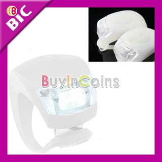 Silicone Bike Bicycle Rear Wheel LED Flash Light White