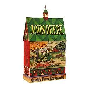 Deere Traditions Barn Figurine Quality Farm Equipment