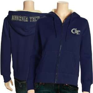 Ladies Navy Blue Academy Full Zip Hoody Sweatshirt