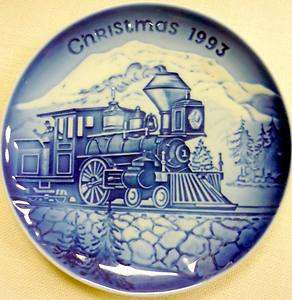 EUC 1993 BING & GRONDAHL CHRISTMAS COMING HOME TRAIN