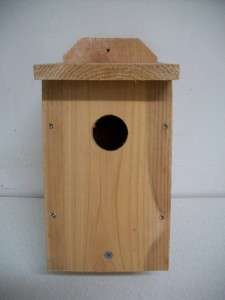 BLUEBIRD BIRDHOUSES CEDAR WOOD BIRD HOUSE NEST BOX