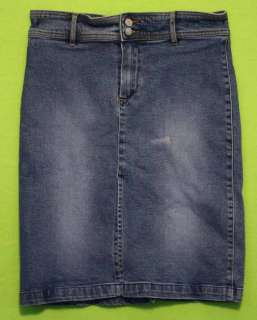 Buffalo David Bitton sz 29 Stretch Womens Blue Jeans Denim Skirt KG37