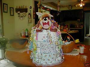 TAZ LOONEY TOONS Diaper Cake baby Shower GIFT