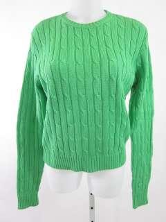 RALPH LAUREN Black Label Cable Knit Crewneck Sweater L