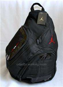 New Nike Air Jordan Jumpman Laptop Sling Backpack Gym Bag Black School