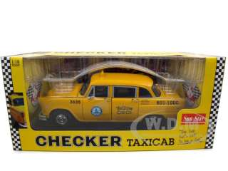 model of 1981 Los Angeles Taxi Cab die cast model car by SunStar