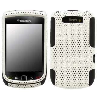 Blackberry Torch 9800 White/Black Hybrid Case