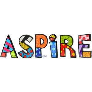 ASPIRE Word Art for Table Top or Wall by Romero Britto