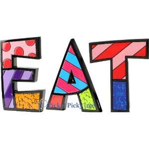 EAT Word Art for Table Top or Wall by Romero Britto