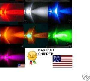 3mm LED 4 color Red White Blue Blue Green Yellow Orange Pink UV *USA