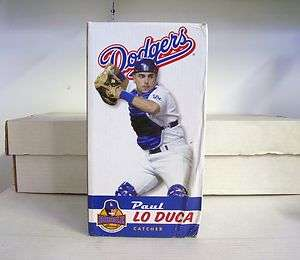 DODGERS Bobble Head Bobblehead SGA Lo Duca Dented/Stained Box