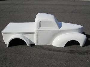 1941 Willys Truck pedal car hot rod stroller 1/4 scale fiberglass body
