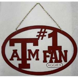 Texas A&M Aggies TAMU NCAA Hanging Sign: Sports & Outdoors