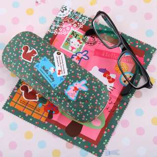 SANRIO HELLO KITTY EYE GLASSES SUNGLASSES CASE W CLOTH