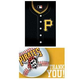 Lets Party By Amscan Pittsburgh Pirates Baseball   Invites & Thank You
