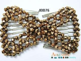 1X MAGIC Stretchy Beaded GIRLS Hair Comb/Clips JBB76