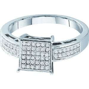 Sterling Silver Diamond Micro Pave Ring With .18CT Diamonds Covering