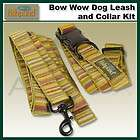 Fishpond Bow Wow Dog Collar & Leash L Set 20 32 Green