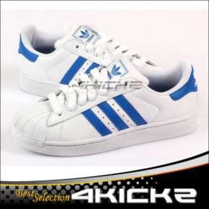 adidas die superstar - 2 - sneaker in weiß - blau