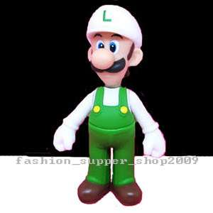Super Mario Bros white Luigi Toys Action Figures Doll
