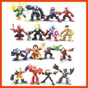 16 PCS Marvel Super Hero Squad X Men Captain America Spider Man Iron