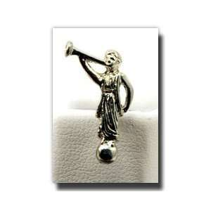 Angel Moroni Tie Tack (Silver)   Silver Color Angel Moroni