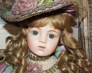 LOVELESS 29 ANTIQUE REPRODUCTION BRU JNE 15 PORCELAIN SILK DRESS DOLL
