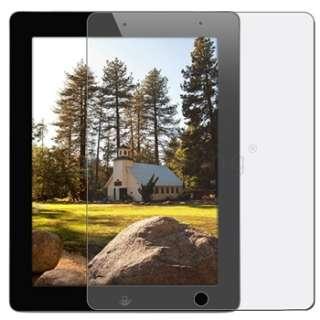 For iPad 2 Purple Leather Case+Stylus+Anti Glare Guard