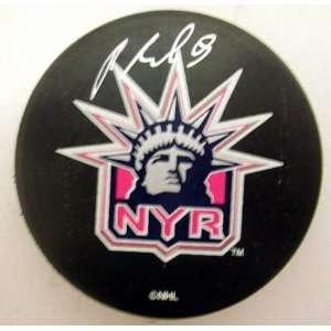 Pavel Bure Autographed New York Rangers Liberty Puck