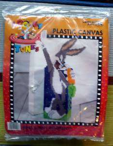 BUGS BUNNY DOORSTOP LEISURE ARTS PLASTIC CANVAS KIT NIP