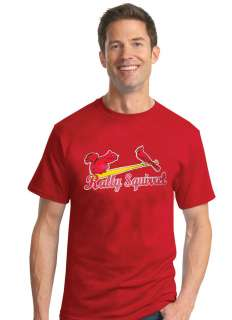 WORLD SERIES CHAMPIONS ST. LOUIS CARDINALS 2011 RALLY SQUIRREL T