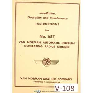 Grinder, Install   Operations & Maintenance Manual Van Norman Books