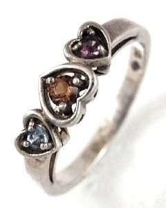 Three Hearts Stone Ring