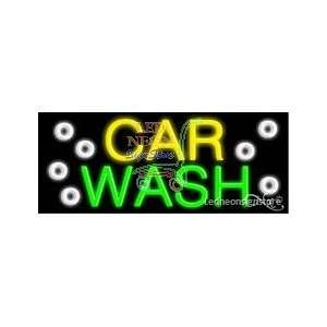 Car Wash Neon Sign 13 Tall x 32 Wide x 3 Deep