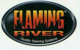On FLAMING RIVER Steering Systems Racing Decal, Sticker RACING