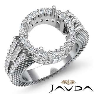 5ct Diamond Wedding Ring Round Setting Platinum s5.5 Engagement Women