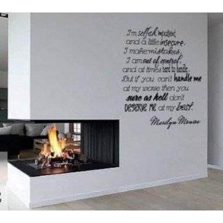 Marilyn Monroe Quote Im Selfish Vinyl Wall Art Decal