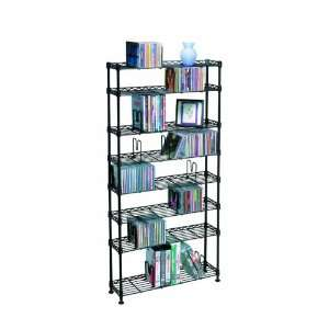 Steel Design Multimedia Floor Storage Rack  Players & Accessories