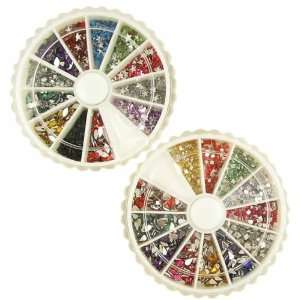 2400 Star, Olive, Square and Water Drop Shaped Nail Art Rhinestones