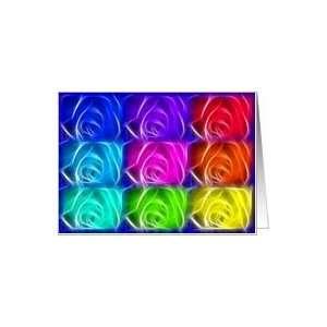 rainbow roses Card