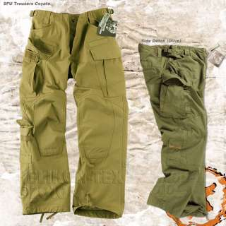 MILITARY SFU ARMY COMBAT CARGO TROUSERS RIPSTOP COYOTE