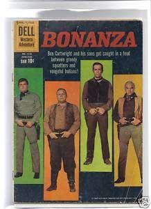 Bonanza #1110 (#1) G 1960 Dell Ben Cartwright and Sons