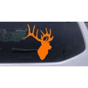 Deer Head Hunting And Fishing Car Window Wall Laptop Decal