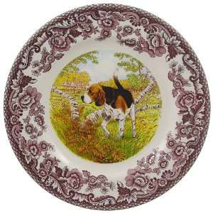 Spode Woodland Hunting Dogs Salad Plate 8 inch   Beagle: