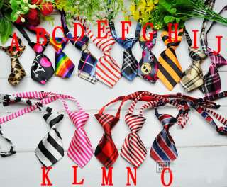 Pet Dog Cat handsome bow tie Necktie clothes 15 pattern
