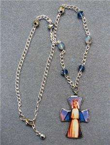 Our Lady Grace Virgin Mary Crucifix Catholic Necklace