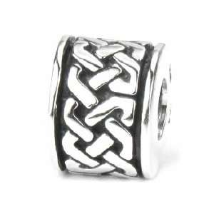 Celtic Knot Band, Solid Sterling Silver European Bead Charm Jewelry