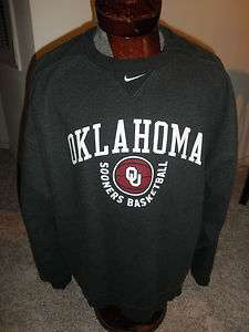 MENS NIKE OKLAHOMA OU SOONERS DARK GRAY SWEATSHIRT SZ XL #292